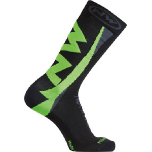 Northwave Extreme Winter Cycling Socks Black/Green Size L