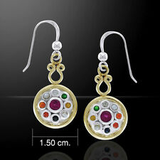 Kept Moon's South Node Mixed Gem Earrings by Peter Stone