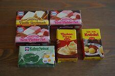 nostalgisches Zubehör für Kaufladen, Lebensmittel f. Kaufmannsladen, 6 Stück