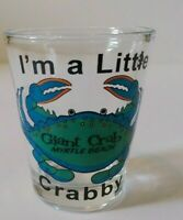"""Crab """"I'm A Little Crabby"""" Myrtle Beach 2.25"""" Collectible Shot Glass"""