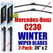 WINTER Wipers 2pk Super-Premium fit 2008-2009 Mercedes-Benz C230 35240x2