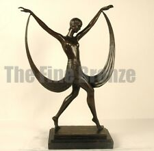 Bronze statue art deco girl dancer sculpture, Signed: Fayral