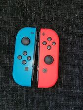 Genuine Nintendo Switch Joy Con Pair Official Neon Blue & Neon Red
