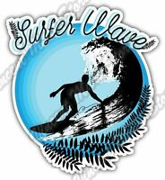 "Surfer Wave Surfing  Windsurfing Paradise Car Bumper Vinyl Sticker Decal 4.6"""