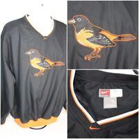 NIKE Baltimore Orioles Men's MLB Authentic Pullover Windbreaker Bird Jacket XL