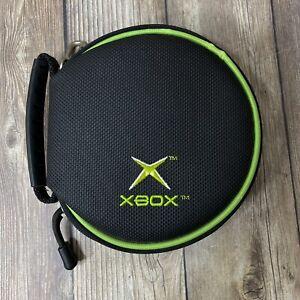 Original Xbox Zip Up Black And Green Logo Game Disc Carrying Case RARE
