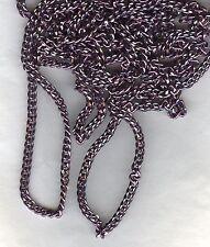 702130 *** 1 mètre chaîne alu gourmette limée 5x3mm couleur VIOLINE