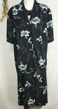 Size 20W /22w 3X Maxi Dress Outfit black floral womens skirt and top