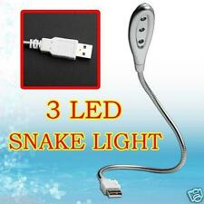USB 3 LED Mini light lamp Snake Metalflexible for PC Notebook Laptop Desktop New