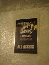 Cryptopsy laminate tour pass '08  tech death metal Suffocation Gorguts Nile