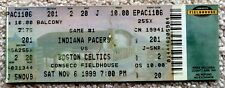 INDIANA PACERS TICKET CONSECO FIELDHOUSE 1ST GAME EVER BOSTON CELTICS NOV 6 1999