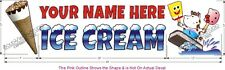 """48"""" Your Name Here Custom Ice Cream Truck Food Cart Concession Decal 3pc Set"""