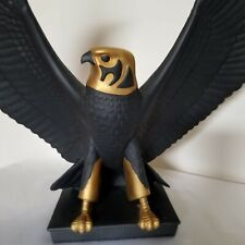 "Franklin Mint FALCON OF THE NILE Statue ~ 13"" Black Porcelain 1988 Egyptian"
