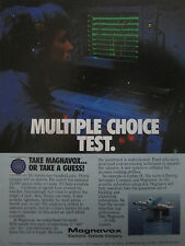12/1990 PUB MAGNAVOX ELECTRONIC UPDATE IV ACOUSTIC SYSTEM P-3 ORION ASW AD
