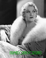 BETTY COMPSON 8x10 Lab Photo Sexy 1920s Silent Era Fur Coat Glamour Portrait