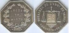 Jeton - VASSY 1851 Haute Marne notaires silver 15 gr corne LEVEQUE d=31 mm