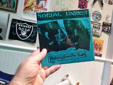 SOCIAL UNREST Making Room For Youth/Rush Hour 7 inch orange vinyl HardCore Punk