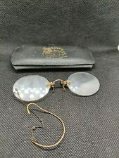 Antique Pince Nez Glasses Spectacles with Original Case