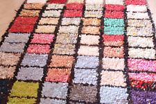 Moroccan Rag Rug Vintage Boucherouite  166 cm x 120 cm / 5.5 ft. x 4.ft. (VR19)