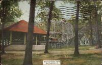 Springfield OH Spring Grove Park Roller Coaster c1910 Postcard