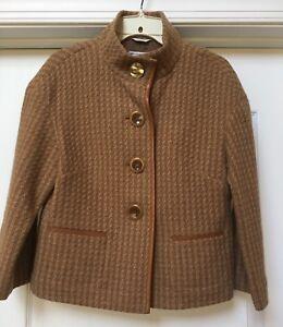 Talbots Collection  brown Wool Blend 4-button blazer , Size M