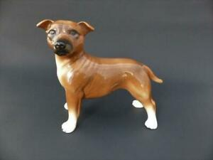 Coopercraft Staffordshire Bull Terrier, Mid 20th c Bull Terrier Figurine