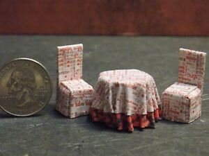 Dollhouse Miniature Kitchen Table Chairs Valentine 1:48 scale D12 Dollys Gallery
