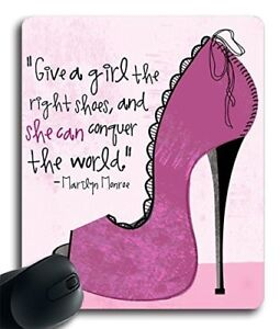 Give A Girl The Right Shoes and she can conquer the world (042711) Rubber Gaming