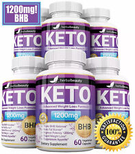 6 x Herbal Beauty KETO BHB 1200mg PURE Ketone FAT BURNER Weight Loss Diet Pills