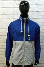 K WAY Uomo Impermeabile Giacca a Vento Taglia L Cappotto Blu Jacket Man Nylon