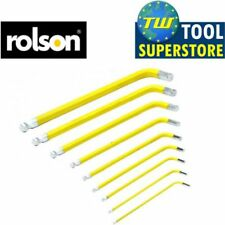 "Rolson 1/16""-3/8"" 9pc Long Arm Imperial Ball End Hex Key Set with Holder Car Van"