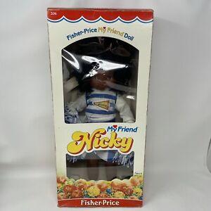RARE Vtg 1984 Fisher Price MY FRIEND NICKY DOLL #206 In Box Cheerleader