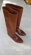 CASADEI MONTALDO'S women's brown leather/skin boots size 7M ITALY