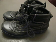 BLACK LEATHER BOOTS FROM LEE COOPER - SIZE 7 1/2 - EMO GOTH / HIKING WALKING