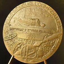 Médaille Levallois-Perret à Jean Faisan 1933 Péniche en bords de Seine medal