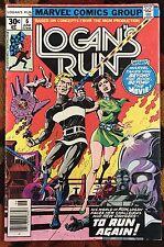 Logans Run #6 (Marvel,1977) 1st THANOS solo story! DRAX!! GOTG2  (FN-)
