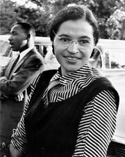 ROSA PARKS WITH MARTIN LUTHER KING JR. 8X10 PHOTO