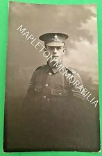 SOLDIER OF THE ROYAL FIELD ARTILLERY ESSEX TERRITORIALS - PHOTOGRAPHIC POSTCARD