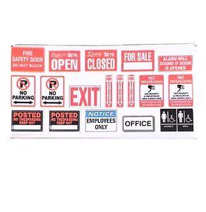 1:18 Diorama Stickers - Business Signage Lot - Garage Diorama Accessories lot