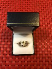 9crt Gold Ring With real Diamonds dress statement new