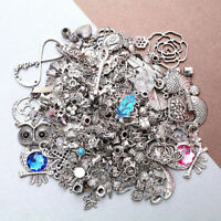 KQ_ HN- JN_ 50g Mixed Antique Earrings Necklace Jewelry Pendant Charms DIY Craft