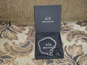 "armani exchange bracelet men 9.5"""