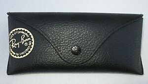 * Ray Ban Sunglasses Eye Glasses Leather Case Black Snap Clean