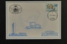 UN UNO Vienna Lübeck 1980 special cancel white card 17/10/1980 Wien weisse karte