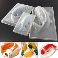 Plastic 3D Fish Cake Koi Jelly Handmade Sugarcraft Mold DIY Chocolate Mould