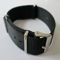 MILITARY WATCH STRAP NYLON 3 RINGS ARMY DIVERS BAND QUALITY WEBBING 18MM 20MM