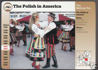 POLISH IMMIGRANTS IN AMERICA Poland History Photo GROLIER STORY OF AMERICA CARD