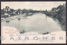 TORINO CITTÀ 393 PONTE - Fiume PO Cartolina viaggiata 1901