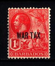 BARBADOS - 1917 - Francobolli del 1912 soprastampati