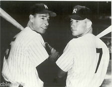 "JOE DiMAGGIO  & MICKEY MANTLE New York Yankees  B & W Large Reprint 11"" x 14"""